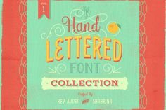 Hand Lettered Font Collection Vol.1 by Key Audri Type on @creativemarket