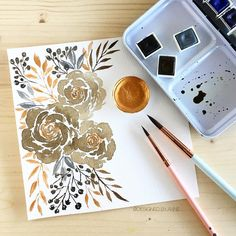 1,497 vind-ik-leuks, 28 reacties - a n n e (@pinkpetitedesigns) op Instagram: 'Experimenting on new color combination, sepia, gray and copper. To make the sepia, used the color…'