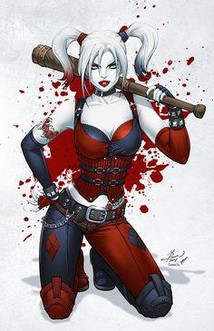 "longlivethebat-universe: "" Harley Quinn by Dawn McTeigue, Vitali Iakovlev & Sean Ellery """