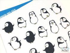 Bullet Journal 2020, Bullet Journal Inspiration, Kawaii Drawings, Easy Drawings, Penguin Drawing Easy, Penguin Dance, Cute Kawaii Animals, Printable Calendar Template, Kids Calendar