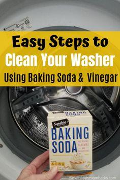 #BakingSodaOnShampoo Smelly Washing Machines, Washing Machine Cleaner, Clean Washing Machine, Baking Soda And Honey, Baking Soda Water, Baking Soda Vinegar, Cider Vinegar, Baking Soda For Dandruff, Baking Soda Shampoo