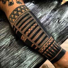 Black Maori Arm Sleeve Tattoo