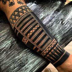 Black Maori Arm Sleeve Tattoo