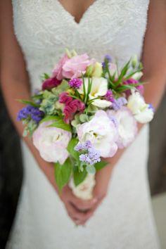 pink wildflower bouquet // photo by http://www.brittcroft.com