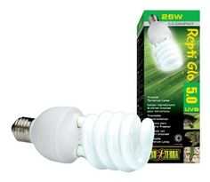 Amazon.com: Exo Terra Repti-Glo 5.0 Compact Fluorescent Tropical Terrarium Lamp, 26-Watt: Pet Supplies