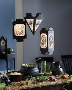 Hanging Snake and Frog Vellum Lanterns | Martha Stewart