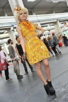 Hunger Games Fan Art / Catching Fire / Effie / Dress / Clothes / Butterfly