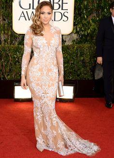 Os vestido do Globo de Ouro   Jennifer Lopez foto: getty
