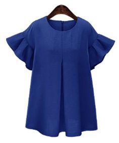 pleats & ruffles in royal blue