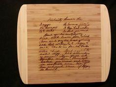 Custom cutting board for Ashley