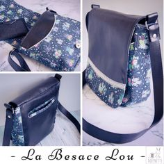 Mini satchel / flap pouch, the Lou bag is a pattern of unisex bag sewing, retro look all round, to wear on the shoulder or shoulder. Dress Sewing Patterns, Sewing Patterns Free, Sewing Ideas, Pop Couture, Diy Bags Purses, City Bag, Retro Look, Knitted Bags, Messenger Bag