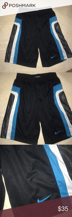 Nike dri fit rare edition men's basketball shirts Black, blue, and white jersey shorts brand new Nike from New York City Nike Shorts Athletic