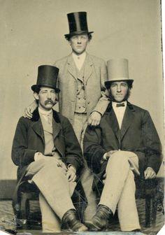 """joshuafountain: """" Three men wearing top hats """""""