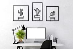 Wall Art collection by Glyphs is a set of 3 fine art objects made of laser cut metal to enhance your wall. The collection includes: Birds – 3 geometric birds you can place in any form on your wall – kids room, living room or kitchen – everything goes! Cacti – 3 units of cactus …