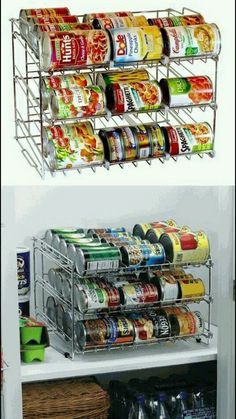 3 tier Wire tray for 3 dozen Campbell size small cans.(in refrigerator)