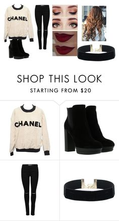 """""""Untitled #1815"""" by aurorazoejadefleurbiancasarah ❤ liked on Polyvore featuring Chanel and Hogan"""