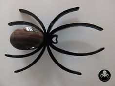 Spider Plexi Pin / Black Plexiglass Lasercut / by SallysGoodies