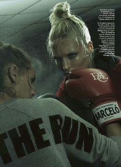 'Primer Asalto' Melissa Tammerijn by Jonas Bresnan for S Moda El Pais 13 September 2014 2