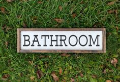 Hey, I found this really awesome Etsy listing at https://www.etsy.com/ca/listing/475899908/bathroom-decor-sign-wooden-sign-bathroom