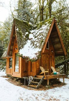 tiny cabin on stilts