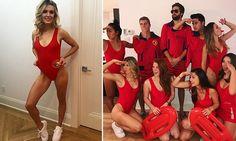 Eugenie Bouchard channels her inner-Baywatch for Halloween Trio Costumes, Trio Halloween Costumes, Halloween Party, Halloween 2020, Baywatch Costume, 80s Costume, 90s Dress Up, Fancy Dress, Blond