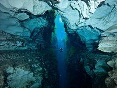Explore underwater caves.