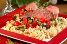 Brighten up your grilling menu with our recipe for Summer Salad with Grilled Lamb and Quinoa!