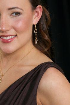 Wedding Earrings Bridal Earrings Rhinestone by AuroraJewelryBox, $64.00