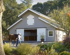 i'd love a horse barn.  with horses of course!
