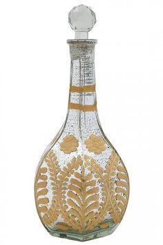 Itzel Mercury Glass Bottle  www.MadamPaloozaEmporium.com www.facebook.com/MadamPalooza