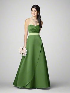 Alfred Angelo Style 7205 in Forest with Pistachio Sash