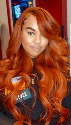 Burnt orange Hair Color 40628 34 Best Fall Colors Images In 2018 Weave Hairstyles, Straight Hairstyles, Black Hairstyles, Ethnic Hairstyles, Hairstyles Pictures, Hairdos, 1940s Hairstyles, Prom Hairstyles, Ponytail Hairstyles
