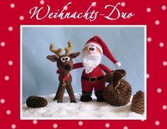 """Häkelanleitung """"Weihnachts-Duo""""Nikolaus & Ren"""
