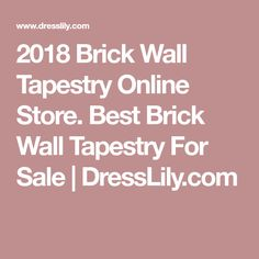 2018 Brick Wall Tapestry Online Store. Best Brick Wall Tapestry For Sale | DressLily.com