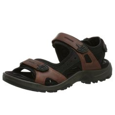 ECCO Men's Yucatan Sandal,Bison/Black/Black,40 EU (US Men's 6-6.5 M)  - $89.93 at amazon.com