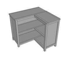 DIY Furniture : DIY Round the Corner Bookshelf