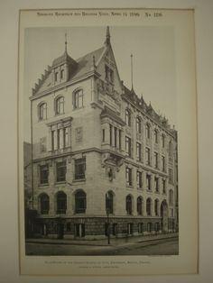 Club-House of the German Society of Civil Engineers , Berlin, Prussia, EUR, Reimer & Korte Berlin, German Architecture, Prussia, Civil Engineering, Engineers, Facades, Prague, Civilization, Poland