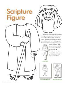 Enoch Coloring Sheets Pages See More Prophet Man Stick Puppet