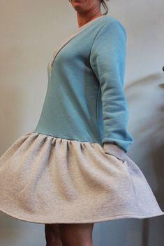 Greek Fashion, Look After Yourself, Sweatshirt Dress, Cosy, Blue Dresses, Fashion Brands, Warm, Sweatshirts, Fabric