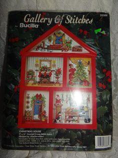 Bucilla Christmas House Counted Cross Stitch #33388 NEW Craft Kit #Bucilla #Frame