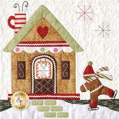 Gingerbread Village - Set Of 7 Patterns + Accessory Fabric Packet