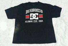 Dyrdek Mens Black Graphic T-Shirt XXL Urban Skater Casual 100% Cotton DCSHOECO