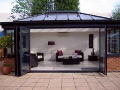 Bi-fold doors in conservatory.