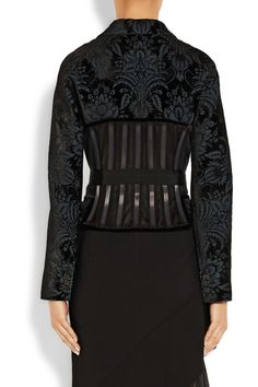 Givenchy | Jacket in flocked wool-blend canvas | NET-A-PORTER.COM