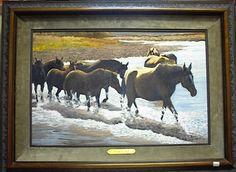 Crossing the Brazos  By Barry Arthur  Cedar Break Gallery, Abilene TX  www.barryarthur.com  I am in love with this painting