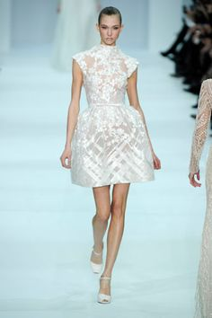 Love white for Spring  Elie Saab Couture   Spring 2012