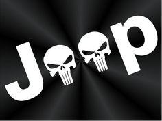 Punisher Jeep Decals, Off Road, 4x4, Truck, Car, Window Vinyl Decals, Stickers 10811