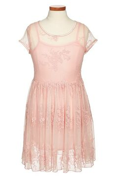 Free shipping and returns on Zunie Cap Sleeve Lace Dress (Big Girls) at Nordstrom.com. A lacy floral overlay charms a sunny cap-sleeve dress finished with a keyhole back.