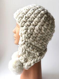 110eeef805b Ear flap merino wool hat for women