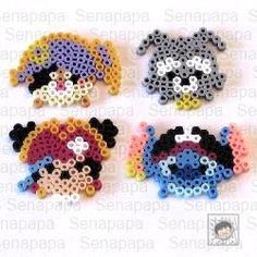 tsum tsum, pirate mickey, perler beads